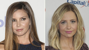 Charisma Carpenter (left) and co-star Sarah Michelle Gellar have spoken out against Buffy creator Joss Whedon.