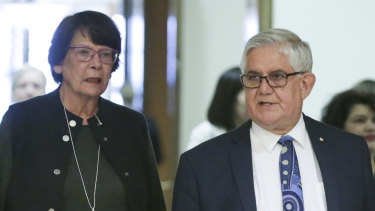 Pat Turner, convenor of the Council of Peaks, and Ken Wyatt, the Minister for Indigenous Australians.