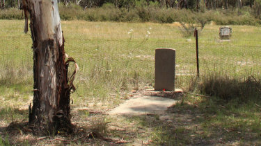 """The lonely grave of World War I veteran Fred Weirin a corner of Tallong cemetery. His suicide has been followed by that of countless Australian servicemen and women who have returned from war since, the details of their deaths often obscured to spare their families the """"shame""""."""