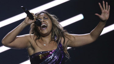 Jessica Mauboy performed at  Eurovision 2018.