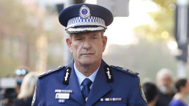 """Investigations and Counter Terrorism Deputy Commissioner Dave Hudson says police will be deployed """"in a high visibility manner into areas of the Sydney CBD and public transport network""""."""