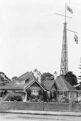 Radio mast and Sir Ernest Fisk's home, Wahroonga