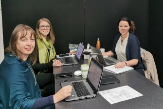 Xtravel's repatriation team (left to right): Fanny Lindblad-Hillary, Niki Davies and Victoria Keating.
