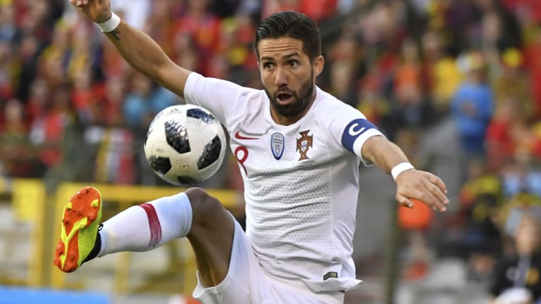 """We are European champions but that doesn't give us the right to be favourites"": Joao Moutinho."