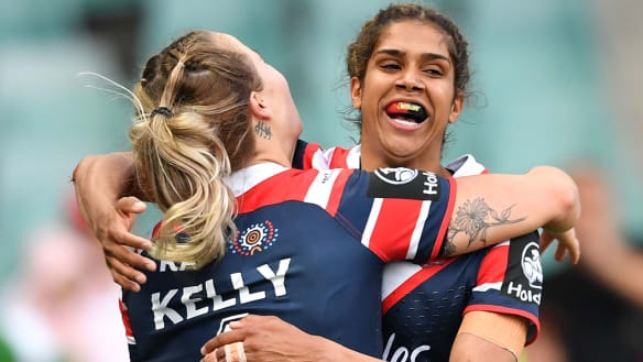 Taleena Simon shreds Dragons as Roosters move into NRLW decider