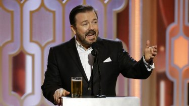 The envelope please? Golden Globes host Ricky Gervais was a hit.