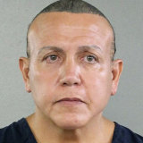 Cesar Sayoc shown in a booking photo in Miami.
