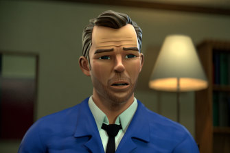 A CGI Patrick Brammall as Detective Cullen in No Activity, on Stan.