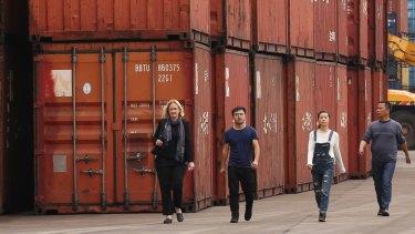 Fairfax China Correspondent Kirsty Needham, left, inChongqing, central China.