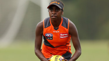 Delma Gisu will become the Giants' first Torres Strait Islander player this weekend.