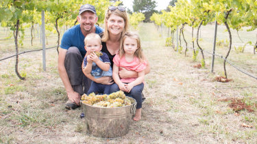 "Sarah and Anthony McDougall are the ""very happy"" new owners of the 113 hectare Lake George Winery."