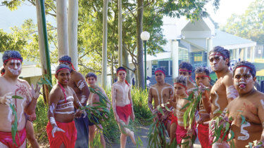 St Ignatius' Riverview students mark Sorry Day with a purification ceremony.