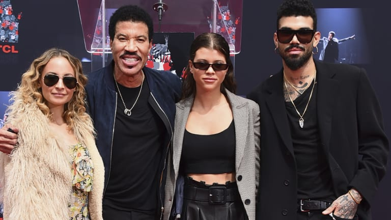 Lionel Richie with his children, Nicole, Sofia and Miles in March.