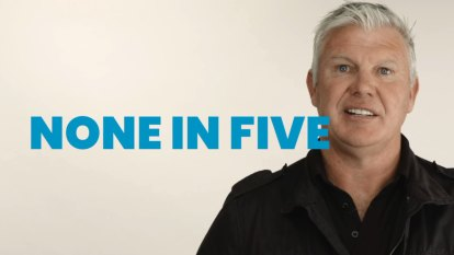 Danny Frawley appears in ad for mental health charity