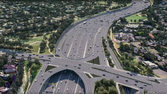 Parkland among casualties as Eastern Freeway widened for new toll road
