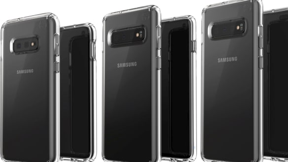 The three phones inside cases, as posted on Twitter by Evan Blass.