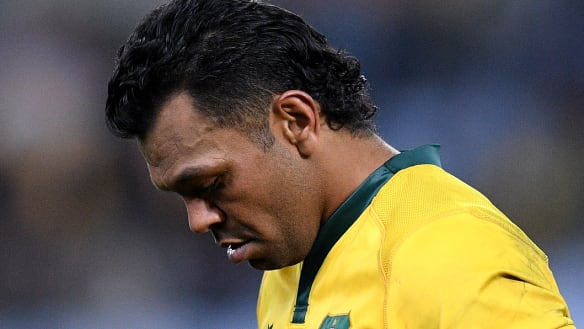 Feeling the pinch: Wallabies star Kurtley Beale Kurtley Beale has returned early  from a holiday to answer questions surrounding a video which shows him in the presence of a group of men passing around a plate with white powder.