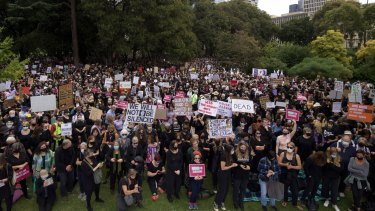 Organisers believe the Melbourne rally has attracted more than 5000 people.