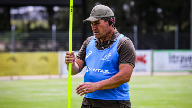 Dave Rennie will take charge of a Wallabies camp on the Gold Coast next month.