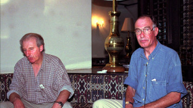 Eric Firkins and Brian Smith, two of the captives.
