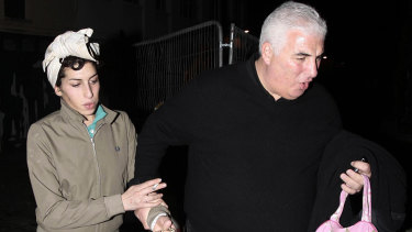 Winehouse with her father Mitch in 2008.