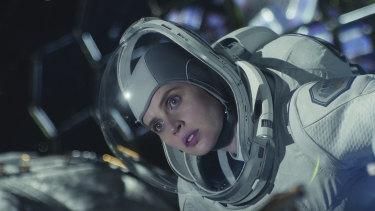 Felicity Jones in a scene from The Midnight Sky.