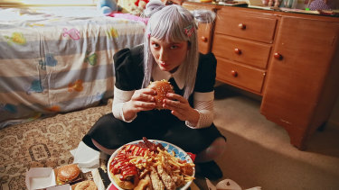 A film inspired by the cultural phenomenon of binge eating food online: Nadia Zwecker in Mukbang.