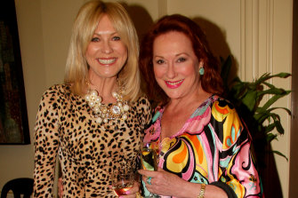 Frost with friend and TV personality Kerri-Anne Kennerley in 2013. Kennerley says she sees Frost as living proof of the need to take charge of your finances and plan for the future.
