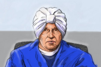 A court sketch of Malka Leifer on Monday.