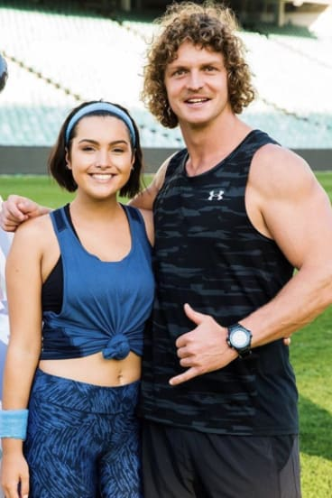 Cat Henesey-Smith with Nick Cummins from this year's season of The Bachelor.