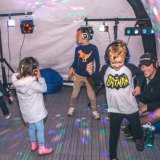 Parents and kids can dance to grooves they prefer with each headphone.