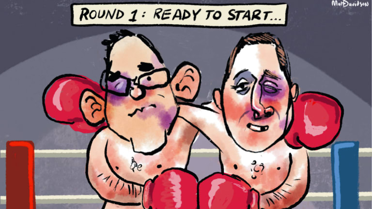 Daniel Andrews and Matthew Guy enter the state election campaign bloodied and bruised.