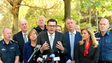 Premier Daniel Andrews announcing the establishment of an injecting room in 2017.