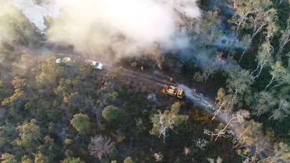 Police 'furious' over suspicious Bribie Island fire