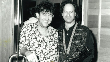 Jimmy Barnes pictured with Michael Gudinski in the 1990s.