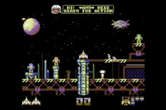 Galencia is a modern game developed for the Commodore 64.