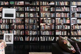 Are the bookshelves there to impress   visitors? There's a bit of that but it's also an affirmation of who you are, and a bookmark of a time in your life.