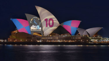 The approved design for the Opera House Everest promotion.