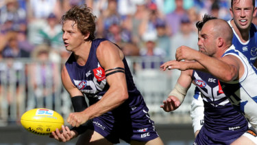 Fyfe was elite against the Roos, his 32 touches including eight intercepts, 13 score involvements, five centre clearances and 22 contested posessions.