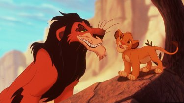 The young Simba (right) in The Lion King, which won composer Hans Zimmer an Academy Award and two Grammys.