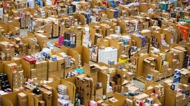 An Amazon fulfilment centre ahead of last year's Black Friday sales.