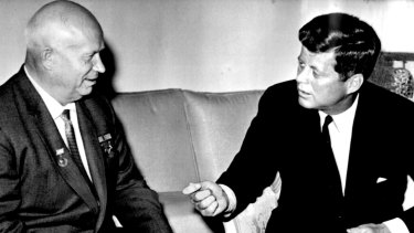 Khrushchev and JFK at their first meeting in Vienna in 1961.