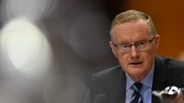 Reserve Bank governor Philip Lowe addresses the House of Representatives Standing Committee on Economics last week.