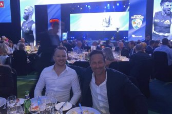 Hayden Burbank and Mark Babbage attennded the grand final eve luncheon at Crown Perth.
