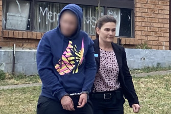 The 30-year-old woman, left, was arrested at a home in Singleton on Monday.