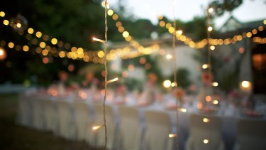 The wedding  was a homegrown affair: music, beer, decor and food all provisioned by friends.