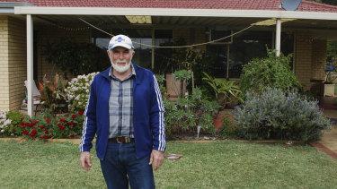 Jim Wade, outside his home in Wattleup.