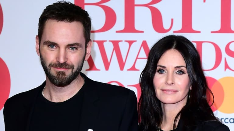 Courteney Cox and Johnny McDaid at the Brit Awards in February.