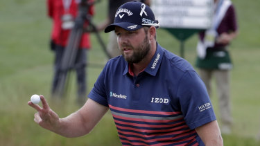 Best of a bad bunch: Marc Leishman is one of just two Australians left after the cut at the US Open.