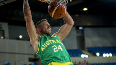 Cruising: File photo of Australia's Mitch Creek, who played his role in the victory over Kazakhstan.